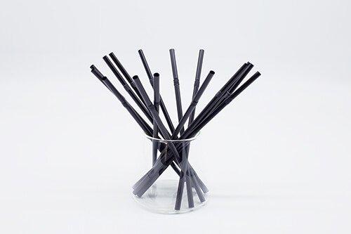 Black PLA Straws Straight or Flexible 1