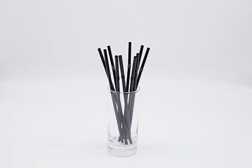 Black PLA Straws Straight or Flexible 2