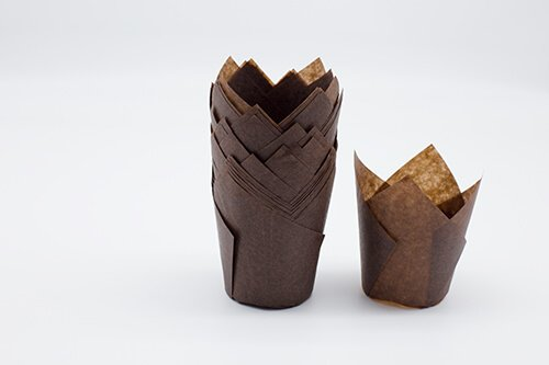 Brown Tulip Baking Cup 1