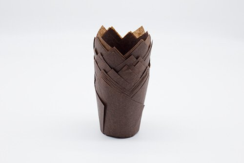 Brown Tulip Baking Cup 2