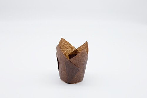 Brown Tulip Baking Cup 3