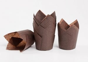 Brown Tulip Baking Cup 4