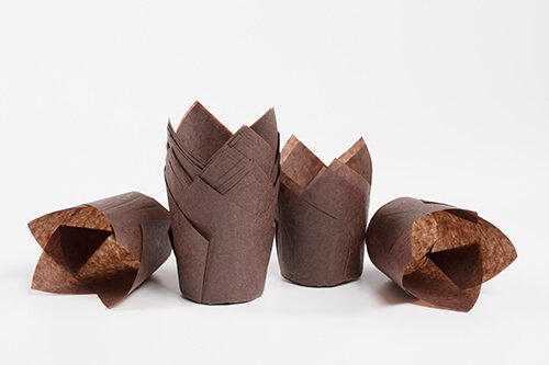 Brown Tulip Baking Cup 5
