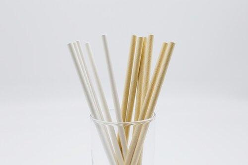 Compostable Paper Straws Kraft 4