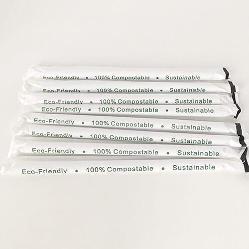 PLA Straws Paper Wrapped 3