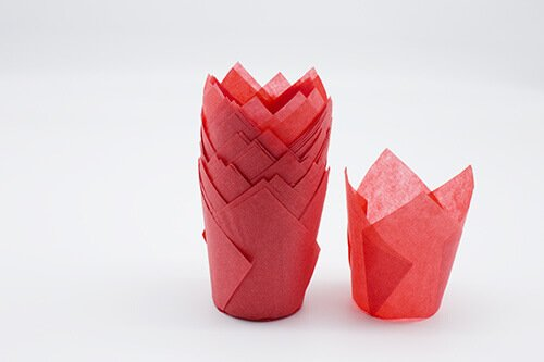 Red Tulip Baking Cup 2