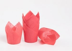 Red Tulip Baking Cup 5