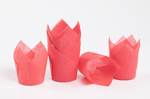 Red Tulip Baking Cup 6