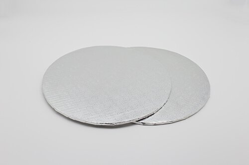Silver Corrugated Cake Board 1