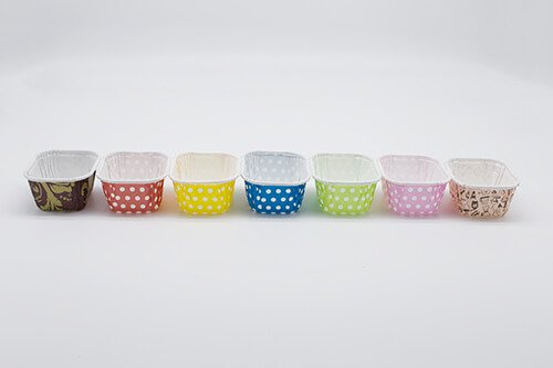 Square Pet Cup Baking Molds 2