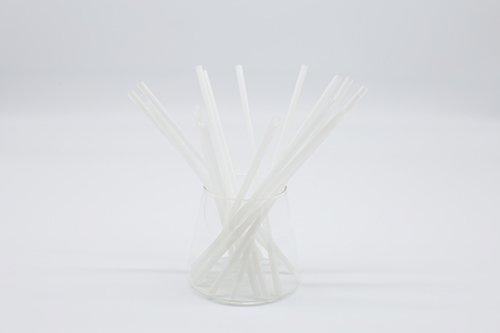 White PLA Straws Straight or Flexible 2