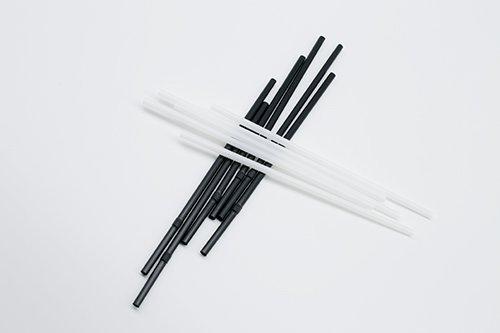 White PLA Straws Straight or Flexible 4