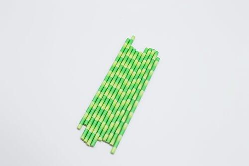 biodegradable bamboo print paper straw 4