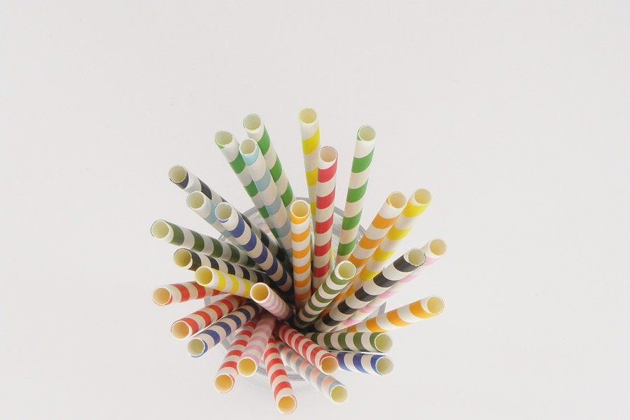 Colorful Striped Paper Straws 5
