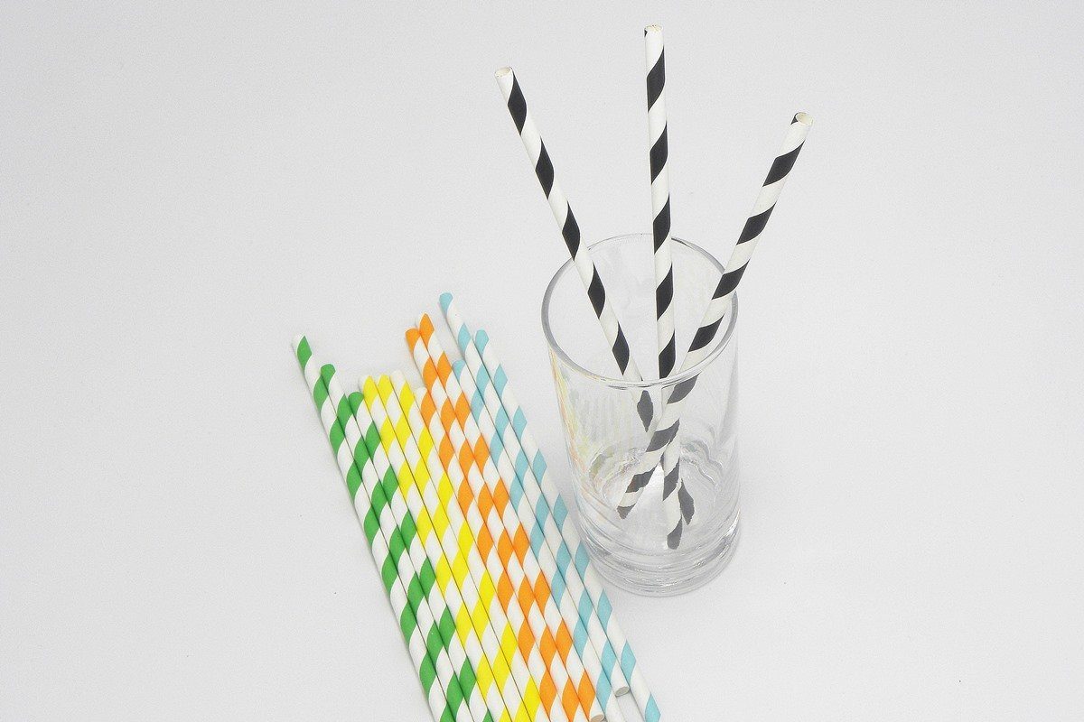 Colorful Striped Paper Straws 6