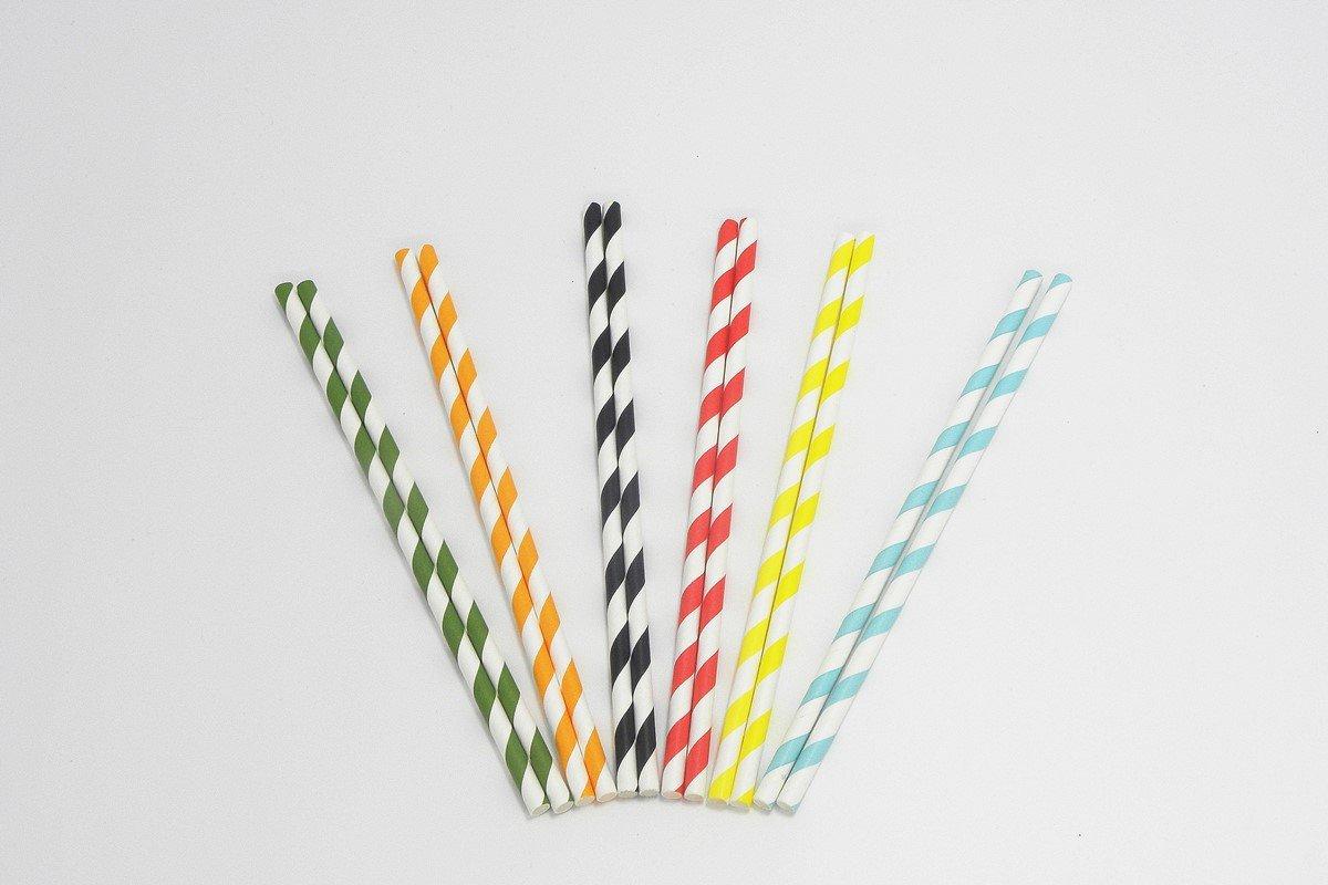 Colorful Striped Paper Straws 8