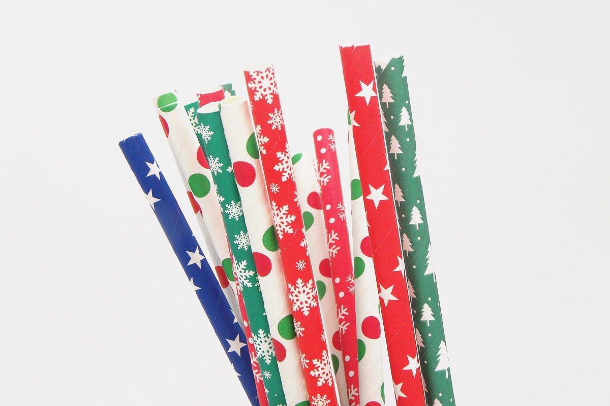 Chrismas Paper Straws for Party Decoration 2