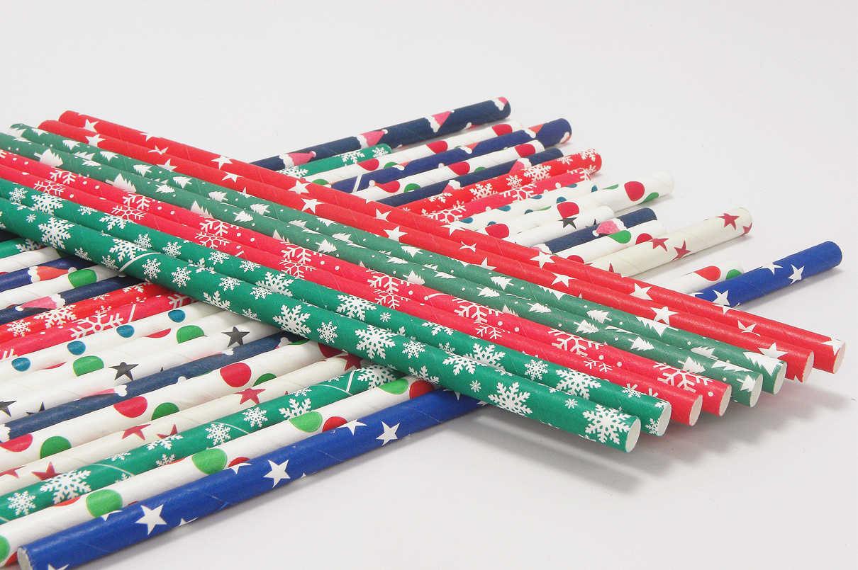 Chrismas Paper Straws for Party Decoration 6
