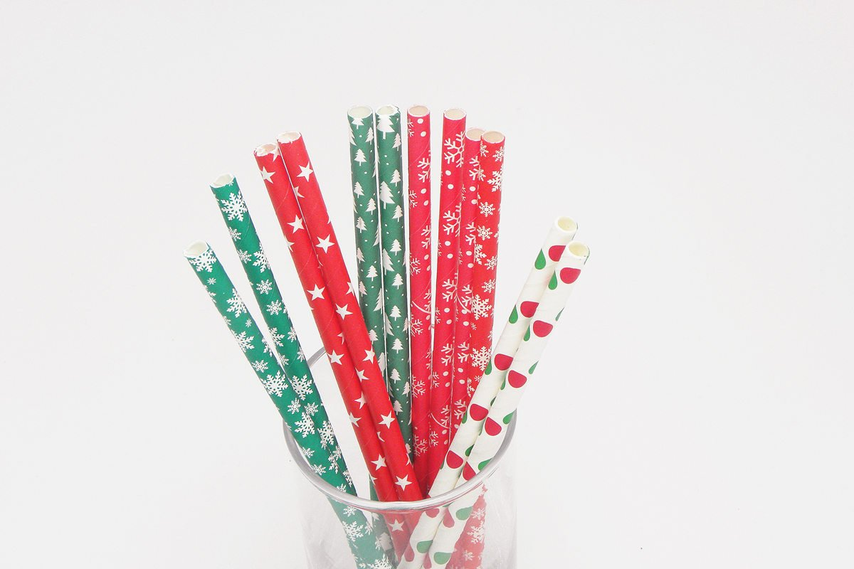 Christmas Paper Straws for Party Decoration 1