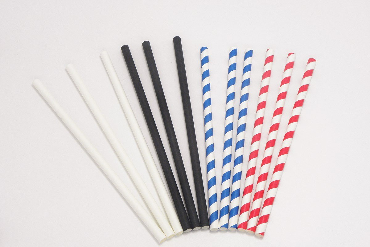 Giant Paper Straws Extra Wide 8mm 10mm 4