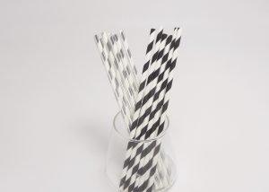 Party Paper Straws Foil Stripe 1