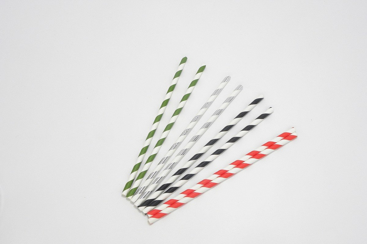 Party Paper Straws Foil Stripe 5
