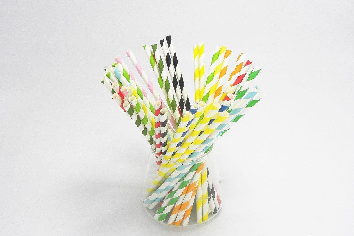 Striped Paper Straws 2