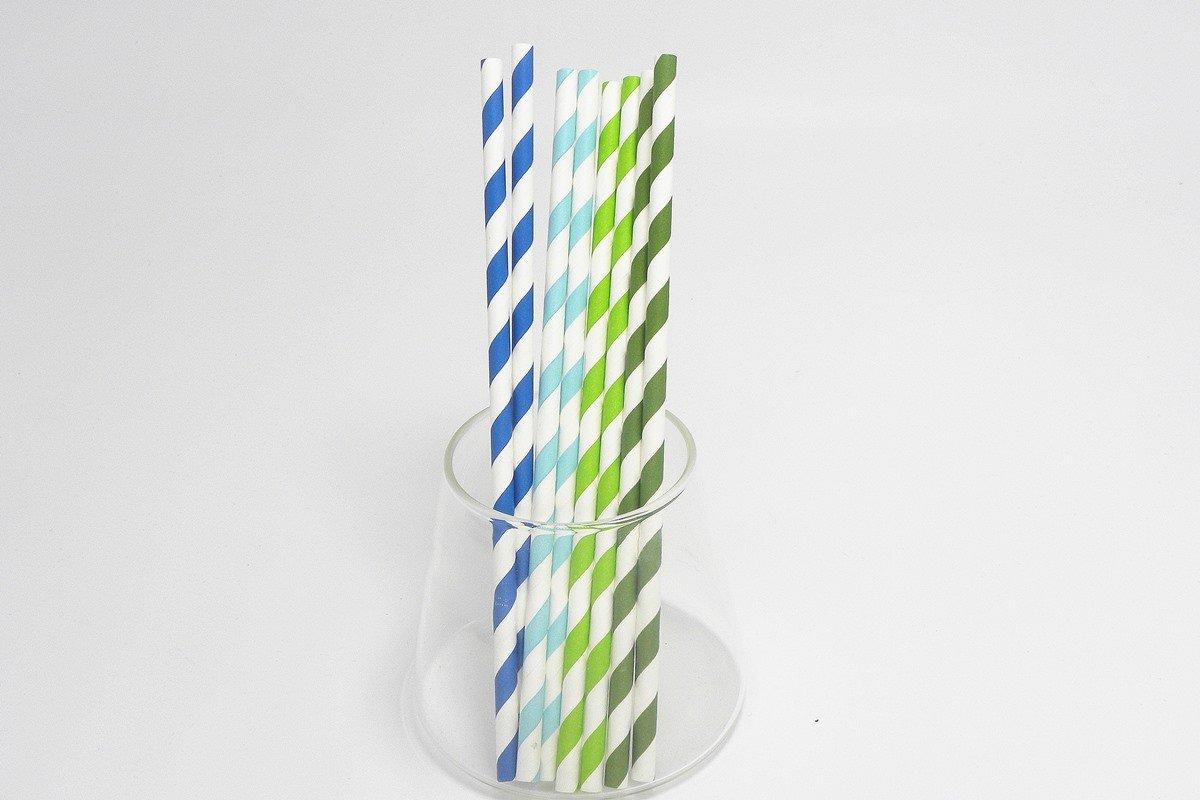 Striped Paper Straws 3